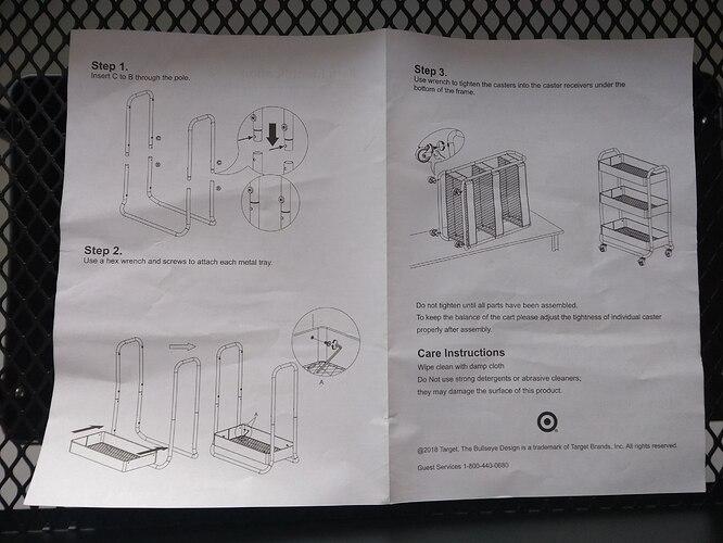 Target-Wide-Metal-Utility-Cart-Instructions