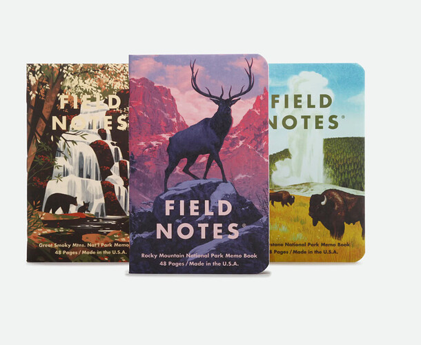 National-Park-Themed-Field Notes