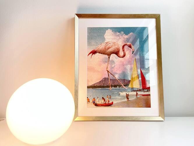 JIGGY-Flamingo-Puzzle-Framed